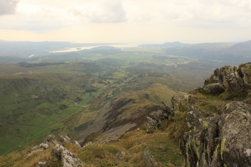 Looking down to Tremadoc Bay